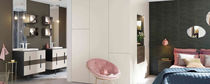 Double washbasin cabinet / free-standing / laminate / contemporary