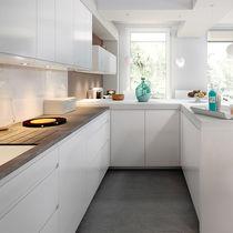 Contemporary kitchen / laminate / L-shaped / high-gloss