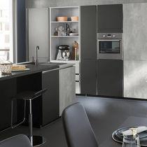 Contemporary kitchen / laminate / cement / island