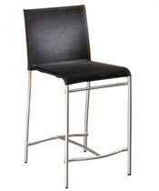 Contemporary bar chair / with footrest / metal / polyester