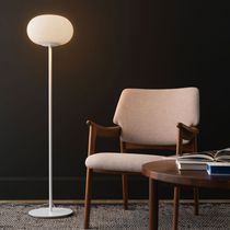 Floor-standing lamp / contemporary / metal / blown glass