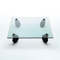 Contemporary coffee table / glass / square / by Gae Aulenti