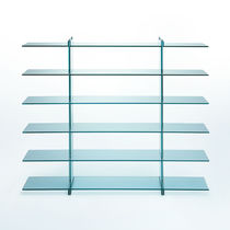 Contemporary shelf / glass
