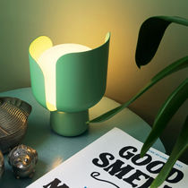 Table lamp / original design / aluminum / polycarbonate