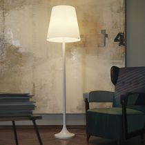 Floor-standing lamp / contemporary / metal / glass