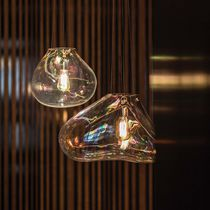 Pendant lamp / original design / glass / halogen