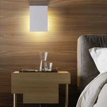 Contemporary wall light / glass / metal / LED