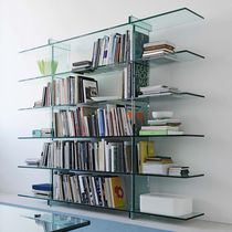 Contemporary shelf / glass