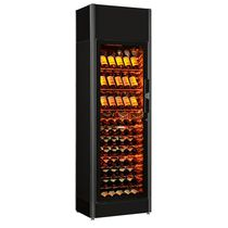 Commercial wine cabinet / floor-mounted / metal / glazed
