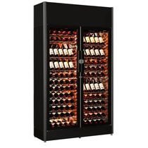 Commercial wine cabinet / floor-mounted / metal / electric