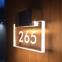 Contemporary wall light / cast aluminum / methacrylate / LED