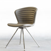 Contemporary chair / sled base / ergonomic / metal