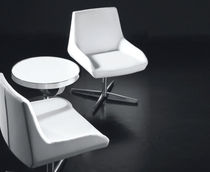 Visitor chair / contemporary / swivel / upholstered