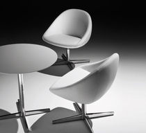Contemporary chair / upholstered / star base / swivel