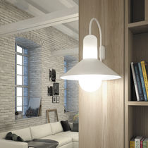 Contemporary wall light / outdoor / glass / lacquered steel