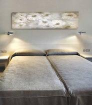 Contemporary wall light / nickel / halogen / rectangular