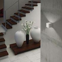Contemporary wall light / aluminum / LED / square