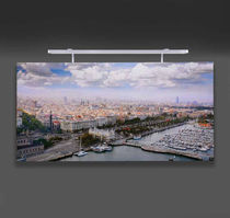 Contemporary picture light / metal / LED / linear