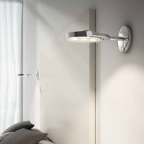 Contemporary wall light / outdoor / chromed metal / LED