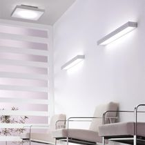 Contemporary ceiling light / square / rectangular / aluminum