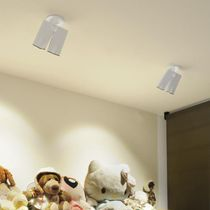Ceiling-mounted spotlight / indoor / LED / square