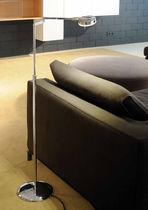 Floor-standing lamp / contemporary / chromed metal / swing-arm