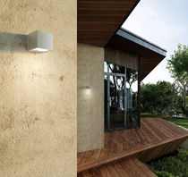 Contemporary wall light / outdoor / garden / aluminum
