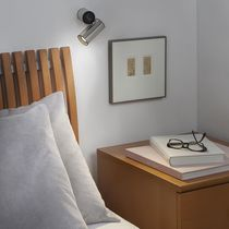 Contemporary wall light / metal / LED / tubular