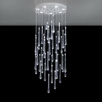Contemporary chandelier / polymethyl methacrylate / LED