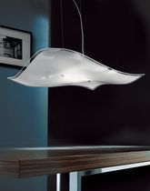 Pendant lamp / contemporary / crystal