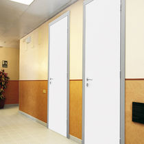 Swing door / wooden / aluminum / for public buildings
