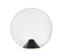 Free-standing mirror / contemporary / round