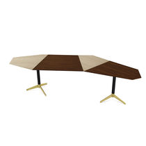 Ash desk / rosewood / anodized aluminum / contemporary