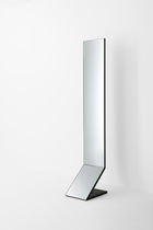 Free-standing mirror / contemporary / rectangular / metal
