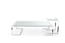 Contemporary coffee table / metal / tempered glass / rectangular
