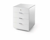 Wooden office unit / 4-drawer / key type