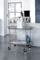 Glass service trolley
