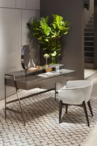 Contemporary dressing table / glass / metal / wooden