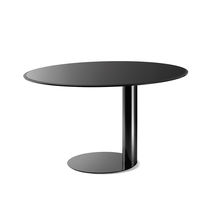 Contemporary table / metal / round