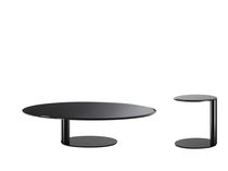 Contemporary coffee table / metal / lacquered metal / round