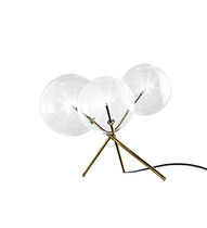 Table lamp / contemporary / glass / brass
