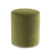 Contemporary pouf / velvet