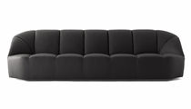 Contemporary sofa / leather / fabric / contract