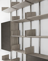 Wall-mounted bookcase / modular / contemporary / wooden