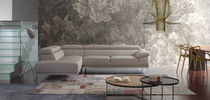 Compact sofa / contemporary / leather / 3-seater