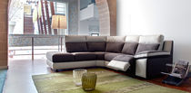 Corner sofa / contemporary / leather / 4-seater
