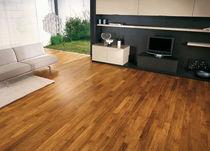 Engineered wood flooring / glued / cabreuva / varnished