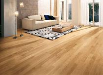 Engineered wood flooring / glued / maple / varnished