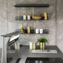 Wall-mounted shelf / contemporary / sheet steel / for kitchens