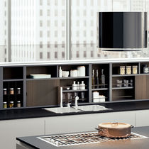 Modular shelf / contemporary / lacquered wood / for kitchens
